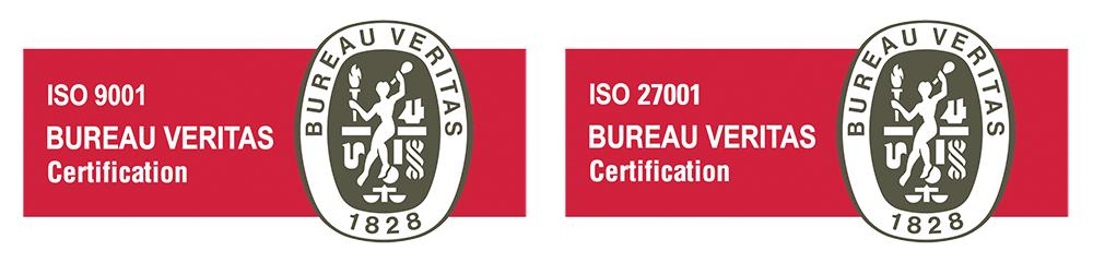 EXEVI posee las certificaciones ISO 9001 / 27001