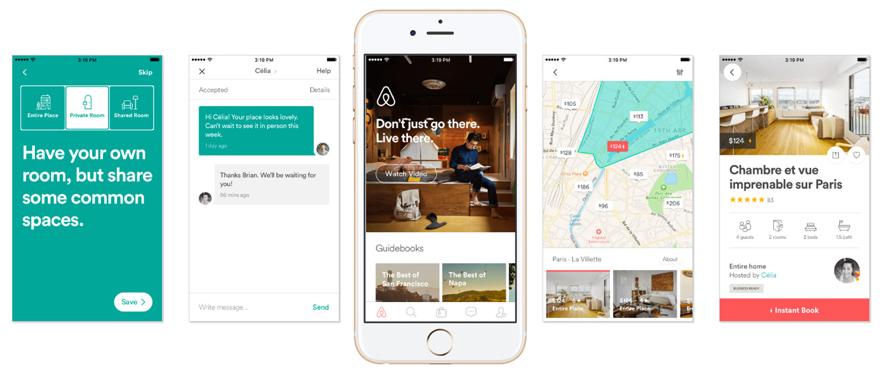 Vistas y componentes - Airbnb