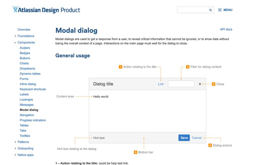 Especificaciones de componentes · Sistema de diseño de Atlassian