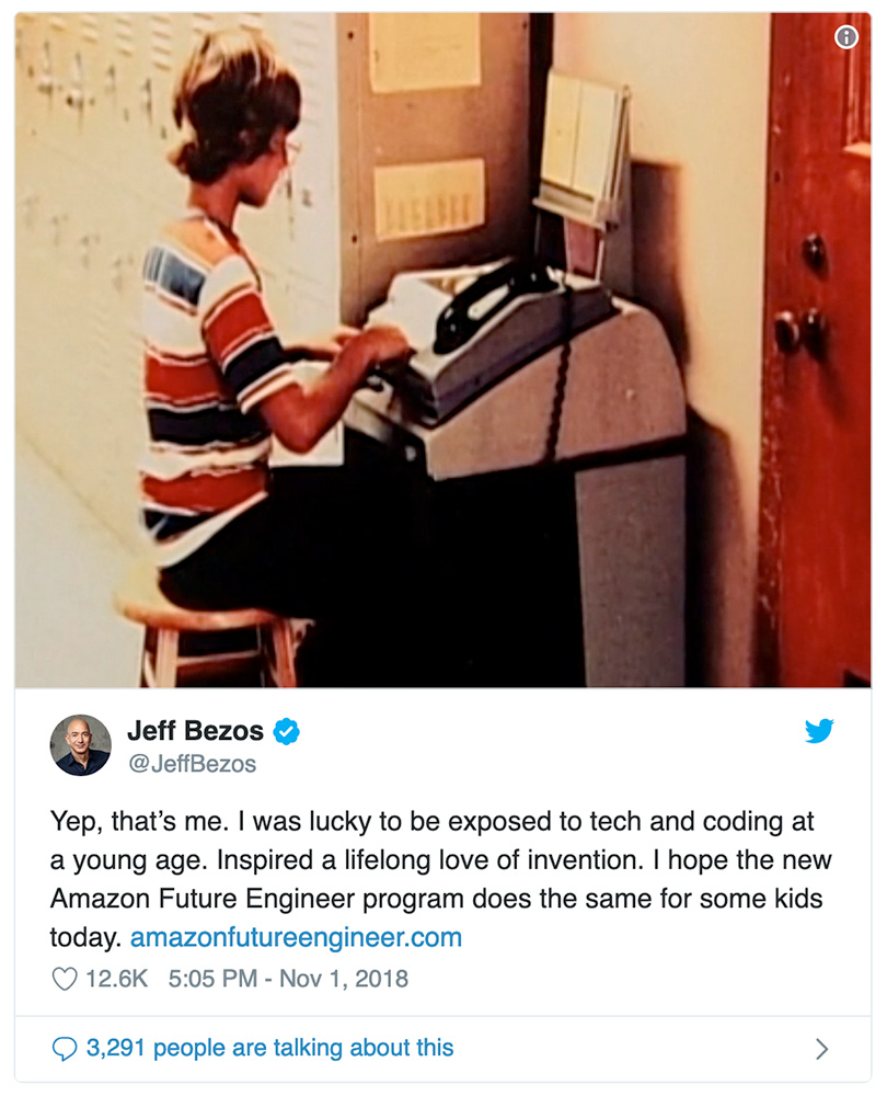 Jeff Bezos programando